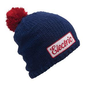 Snowboard Electric Cursive Hat - Keep your head and ears warm this winter with the Electric Cursive Beanie. This hat is a hand knit beanie made up of a 100 percent Acrylic material. Features a stylish look complete with a pom on top. . Warranty: One Year, Battery Heated: No, Material: Synthetic, Lined: No, Type: Pom, Model Year: 2012, Product ID: 248968 - $15.99