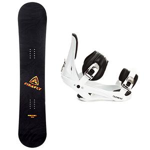 Snowboard Firefly Rampage Adult Snowboard and Binding Package - When it's time to tear up the mountain, get the Firefly Rampage Snowboard Package. It includes the Rampage, a fun beginner board for the guy looking to shred this winter that will get you up on your feet and make learning the ways of the mountain simple and fun. This board has a soft flex and is very forgiving, making it the perfect all mountain board. Attached to the board is the 5th Element Stealth Binding to get you out on the mountain. This soft flexing binding is forgiving enough to accommodate any inexperienced rider, while a thick but soft flexing ankle strap provides the support and response needed to progress. Padding underfoot dampens vibration and eliminates shock giving confidence to the entry level rider looking to take on anything. Simple, smooth gliding ratchets make for easy entry and exit, while tool-less adjustments allow you to customize this binding to any boot on the fly. An entry level ride with a stylish design, the Firefly Rampage Snowboard Package will give you the confidence to reach the next level and have fun while learning! (Please note that since this is a package item, it may be shipped in multiple packages from different locations. In some cases, your items may arrive on different days and/or from different carriers.) . Recommended Use: All-Mountain, Snowboard Rocker Profile: Camber, Package Type: Board and Bindings, Skill Level: Beginner, Gender: Mens, Product ID: 244159, Skill Range: Beginner - Advanced Intermediate - $134.95
