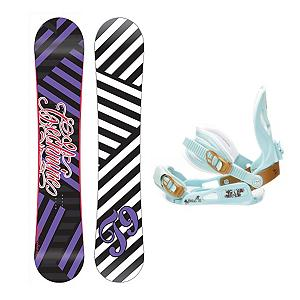 Snowboard Tech Nine Glam Rock SNLC III Womens Snowboard and Binding Package - The Technine Glam Rocker is going to help you squeeze every bit of juice out of your buck. The awesome reverse camber shape will deliver some of the best days shredding in your life without making you go bankrupt. Technine's 9 Rocks reverse camber is fun and easy to ride. From your first day of the season to your last, this is the perfect board for having a good time in the park. The SNLC III is a great beginner binding for someone looking to do some all-mountain riding. This binding features aluminum heel cups and plastic anatomical base plates. The SNLC III comes with a standard 2x4 hole base plate disc and is compatible with most boards. . Skill Range: Beginner - Advanced Intermediate, Product ID: 294097, Gender: Womens, Skill Level: Beginner, Package Type: Board and Bindings, Snowboard Rocker Profile: Rocker, Recommended Use: Freestyle - $179.99