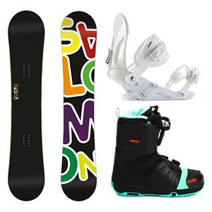 Snowboard Salomon Drift Rocker Wide EX Faction FS Complete Snowboard Package - If you want the stability of traditional camber with the catch free versatility of reverse camber then the Salomon Drift Rocker Wide Snowboard Package was made just for you. The Drift Rocker has been designed for improved park performance with a perfect twin shape. It also features royal rubber pads which protect your edges and make for nice soft, smooth landings. The Drift Rocker will have you getting loose with confidence on everything. Also features all black graphics for a dark, sleek look. The Salomon Drift Rocker Snowboard has a Pre-sure Rocker. Comes in wide sizes for the shredder with bigger feet. The versatile and durable Ride EX binding is part of the package. The EX features Ride's the Foundation chassis to provide all-mountain mid-flex performance and the Wedgie 1.5 footbed that has a subtle angle to provide the perfect mix of comfort and support. Combined with the ThinGrip toe strap and the ComfortFlex highback, you won't find a better value for any level of rider. The vicious beast of a boot the Salomon Faction FS rounds out this package. This boot features Salomon's Speed Powerlace system that'll have you lacing up faster than Superman. In case you want to fly like him too, a Stomp outsole and feel good liner will give you the protection and comfort you need when you stomp the landing. You'll also have your feet chillin on memory foam that's more comfortable than your bed. Autofit will self adapt to your feet's shape giving you a custom fit. Go ahead, carve the pow and butter all day. Get your feet dirty because this puppy has a bamboo footbed that provides gnarly natural antibacterial action. . Recommended Use: Freestyle, Snowboard Rocker Profile: Rocker, Package Type: Board, Boots, and Bindings, Skill Range: Beginner - Advanced Intermediate, Product ID: 295102, Gender: Mens, Skill Level: Beginner - $429.99