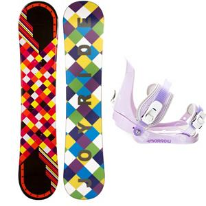 Snowboard Joyride Checkers Black Girls Snowboard and Binding Package - The JoyRide Checkers Black Snowboard is perfect for the little girl ready to tackle her first board. Its camber profile ensures she can have a little more control and edge hold so she can get used to the turns you need to make when traversing the mountain. It also has a little pop so she can try out some tricks that she has seen you do and wants to emulate. A great entry-level board to help increase her confidence and skill level, teamed up with the 5th Element Stealth. This binding is perfect for your little one's first time on the hill. With easy adjustable tool-less straps you can fit the binding to the boot easily. Soft EVA foam provides nice padding across the boot for control and comfort. Padding on the highback allows for easier heelside turns and even more comfort for your kid. Mom and Dad can now enjoy the luxury of sipping on hot chocolate while they watch the progression of their kid unfold before their very own eyes. . Recommended Use: All-Mountain Freestyle, Snowboard Rocker Profile: Camber, Package Type: Board and Bindings, Skill Range: Beginner - Advanced Intermediate, Model Year: 2013, Product ID: 301866, Gender: Girls, Skill Level: Beginner - $149.99