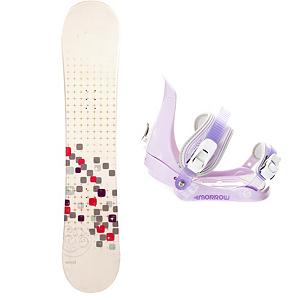 Snowboard Swivel Sparkle Girls Snowboard and Binding Package - A cool and fun entry-level board for your little girl is the Swivel Sparkle Girls Snowboard. You can help your little girl progress into higher skill levels on her very own board! It has a soft flex and a camber profile so she can continue learning on a responsive board with very good edge hold. She will soon become a great carving into the mountain. She will gain the confidence to try out new tricks and, with its pop, she can even spend some time in the park. She will love having a new and cool board to call her own and this will allow you to get to the mountain quicker instead of stopping for a rental board that she needs to get used to. Paired with the Morrow Slider binding, which the perfect binding for groms. The Morrow Slider is small for kids but big in performance. They feature a tool-less forward lean adjustment which allows you to adjust them quickly and easily for that customized heel edge power. The 360 degree disc mount gives you multiple options for your stance and they also feature a quick and easy to use aluminum ratchet buckles. . Recommended Use: All-Mountain Freestyle, Snowboard Rocker Profile: Camber, Package Type: Board and Bindings, Skill Range: Beginner - Intermediate, Model Year: 2013, Product ID: 301867, Gender: Girls, Skill Level: Beginner - $149.99