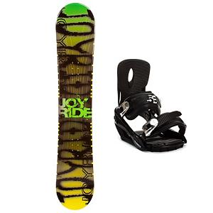 Snowboard Joyride Writing Yellow Snowboard and Binding Package - Check out the JoyRide Writing Yellow Snowboard. It's a great entry-level board for the newer rider who wants to a board to call their own. If you're just starting out or you've been renting for a bit, this Yellow Writing board will help ensure that you can progress so that you can tackle the bigger, steeper and deeper terrain with confidence. Built with a camber profile, you'll have a responsive board with a great edge hold so that you can practice and perfect those turns. There's a little bit of pop so that you can start working on new tricks for the park and attempt the jumps you want to show off. This soft flex and forgiving JoyRide Yellow Writing Snowboard is great for a beginner who doesn't want to drain the money from their wallet. Paired with 5th Element Stealth binding, This soft flexing binding is forgiving enough to accommodate any inexperienced rider, while a thick but soft flexing ankle strap provides the support and response needed to progress. . Recommended Use: All-Mountain Freestyle, Snowboard Rocker Profile: Camber, Package Type: Board and Bindings, Skill Range: Beginner - Advanced Intermediate, Model Year: 2013, Product ID: 302132, Gender: Mens, Skill Level: Beginner - $179.98