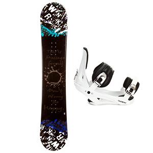 Snowboard SLQ Twin Rocker Snowboard and Binding Package - The SLQ Twin Rocker Snowboard is a great entry-level board that will get you progressing quickly on the mountain. You may start off a little shaky at first but remember practice makes perfect and with this board, you'll be perfecting your turns and tricks in no time. Its rocker profile adds some playfulness to this forgiving board so you try out some maneuvers without eating snow every time. A great value for a cool looking board you can call your own, the SLQ Twin Rocker is one you can easily start out your riding career on. The 5th Element Stealth is the perfect binding to get you out on the mountain without breaking the bank. This soft flexing binding is forgiving enough to accommodate any inexperienced rider, while a thick but soft flexing ankle strap provides the support and response needed to progress. Padding underfoot dampens vibration and eliminates shock, giving confidence to the entry level rider looking to take on anything. A soft foam convertible toe strap allows the rider to wear the binding over the top of the boot like a traditional strap or conforms to fit over the toe of the boot eliminating any possible pressure points and drawing the boot back into the binding. Simple, smooth gliding ratchets make for easy entry and exit, while tool-less adjustments allow you to customize this binding to any boot on the fly. Simply put, with the 5th Element Stealth Binding you can expect a lot of value at a price that won't leave your pockets empty. . Recommended Use: All-Mountain Freestyle, Snowboard Rocker Profile: Rocker, Package Type: Board and Bindings, Skill Range: Beginner - Advanced Intermediate, Model Year: 2013, Product ID: 302149, Gender: Mens, Skill Level: Beginner - $229.99