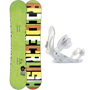 Snowboard Ride Crush Wide Snowboard and Binding Package - It is never fun when you have a crush that just will not go away, luckily for you this is the one crush its ok to fall in love with. The Ride Crush Wide is packed with big foot gifts that keep any freestyle rider on the hill longer and loving every minute of it. The buttery fun Ride Crush Wide snowboard combines Rides LowRize shape with 85A Slimewalls absorbing impacts rather than defending against them. The Ride Crush Wide is a hook-free, super smooth ride, featuring the lightweight style of Membrain and toughness of Cleave Edge, this surfy twin snowboard shows total devotion whether slashing groomers or lapping the park. Paired up with the Ride EX Snowboard Bindings are the pinnacle of performance value. Built for versatility and durability, the EX features Ride's the Foundation chassis to provide all-mountain mid-flex performance and the Wedgie 1.5 footbed that has a subtle angle to provide the perfect mix of comfort and support. Combined with the ThinGrip toe strap and the ComfortFlex highback, you won't find a better value for any level of rider. . Recommended Use: Freestyle, Snowboard Rocker Profile: Rocker, Package Type: Board and Bindings, Skill Range: Intermediate - Advanced, Model Year: 2013, Product ID: 302159, Gender: Mens, Skill Level: Intermediate - $279.99