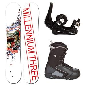 Snowboard Millenium 3 Discord Complete Snowboard Package 2013 - A fun and forgiving ride, the Millennium 3 Discord Snowboard Package will help build your confidence so that you can soon rule the mountain you love to play on. With the Millennium 3 Discord Snowboard you can expect a forgiving and soft board to help ensure you progress confidently. It's lightweight thanks to its Woodcore so you can work your way to higher skills levels with ease. The 5th Element Stealth Bindings boast a soft flexing strap and padding underfoot to dampen vibrations and eliminate shock. This will help accustom you to varying conditions you may experience on the mountain. It's an excellent binding for the inexperience rider. The CYCAB C30 Snowboard Boots will keep your feet warm and comfortable while also providing you with a soft flex. It offers a traditional lacing system so you always have a customized and comfortable feel. With the Millennium 3 Discord Snowboard Package you'll have high value combo to get your skill level higher without breaking the bank. . Recommended Use: Freestyle, Snowboard Rocker Profile: Camber, Package Type: Board, Boots, and Bindings, Model Year: 2013, Product ID: 302335, Gender: Mens - $249.99