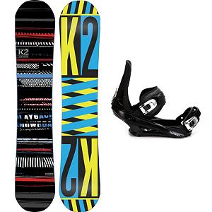 Snowboard K2 Playback Snowboard and Binding Package - The K2 Playback Snowboard Package offers up a twin-shaped freestyle board with a soft flexing and forgiving binding. The K2 Playback Snowboard has a Flatline underneath the feet to give you plenty of pop and smooth neutral feel so you can focus easily when going across boxes or tearing up the rails. Hybritaper has been added which reduces swing weight and allowing riders an easier transition into a switch stance. 5th Element Stealth 2 Bindings are soft flexing and forgiving. The cushy ankle straps conform to your boot while remaining comfortable so you can remain concentrated on all that lay before you. The highback hugs the back of your boot for supportive and the base has a padding that provides dampening to help absorb some of the shock. Packing a punch without the high price of purchase, you'll love everything about this K2 Playback Rocker Snowboard Package. Live freely in the park and blaze your own trails with the K2 Playback Snowboard Package. . Recommended Use: Freestyle, Snowboard Rocker Profile: Flat, Package Type: Board and Bindings, Skill Range: Beginner - Advanced Intermediate, Model Year: 2013, Product ID: 304660, Gender: Mens, Skill Level: Beginner - $369.99