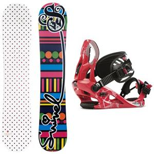 Snowboard Swivel Polka Dot Kat Girls Snowboard and Binding Package 2013 - If you're looking for a great snowboard for your beginner to intermediate rider at a great price, look no further! The Swivel Polka Dots Girls Snowboard is a great choice for just about any girl on the mountain. The soft flex pattern makes it very forgiving to ride, so it is great for beginners. The cap construction sidewall lightens up the board a bit, helping your little one excel in her riding. The Swivel Polka Dots snowboard will make your child's day on the mountain perfect! The Kat binding is designed for the inspiring girl ripper that learns every turn on the mountain. The A Line Chassis provides comfy lightweight support with a contoured Caddi Ankle strap. Most importantly, the Kat is ready for multiple seasons with a forgiving flex and durable design. The K2 Kat is a binding that is constantly ready for on the hill fun. . Recommended Use: All-Mountain Freestyle, Snowboard Rocker Profile: Camber, Package Type: Board and Bindings, Skill Range: Beginner - Intermediate, Model Year: 2013, Product ID: 305007, Gender: Girls, Skill Level: Beginner - $199.99
