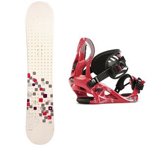 Snowboard Swivel Sparkle Kat Girls Snowboard and Binding Package - A cool and fun entry-level board for your little girl is the Swivel Sparkle Girls Snowboard. You can help your little girl progress into higher skill levels on her very own board! It has a soft flex and a camber profile so she can continue learning on a responsive board with very good edge hold. She will soon become a great carving into the mountain. She will gain the confidence to try out new tricks and, with its pop, she can even spend some time in the park. She will love having a new and cool board to call her own and this will allow you to get to the mountain quicker instead of stopping for a rental board that she needs to get used to. A great value for a new entry-level board, your little girl will love the Swivel Sparkle Snowboard. The Kat binding is designed for the inspiring girl ripper that learns every turn on the mountain. The A Line Chassis provides comfy lightweight support with a contoured Caddi Ankle strap. Most importantly, the Kat is ready for multiple seasons with a forgiving flex and durable design. The K2 Kat is a binding that is constantly ready for on the hill fun. . Recommended Use: All-Mountain Freestyle, Snowboard Rocker Profile: Camber, Package Type: Board and Bindings, Skill Range: Beginner - Intermediate, Model Year: 2013, Product ID: 305009, Gender: Girls, Skill Level: Beginner - $179.99