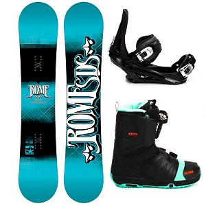 Snowboard Rome Garage Rocker Complete Snowboard Package - This Rome Garage Rocker Snowboard Package is designed for the rider who slays the rails and presses out jibs so if you're in the market for a freestyle board, binding and boot then this is one for you. The Rome Garage Rocker Snowboard boasts a Freepop Rocker which combines flat between the feet and progresses to rocker in the tip and tail. This will improve ollie pop, edge control and stability for jumps. Utilizing Quickrip Sidecut Technology you'll be able to ride loose and playful at slow speeds, powerful and precise at higher speeds. There is Bambooster Technology which is center milled, eco-friendly, bamboo rods inserted under the bindings and out towards the nose and tail for an earth friendly response. Now, let's talk bindings. 5th Element Stealth 2 Bindings are soft flexing and forgiving. The cushy ankle straps conform to your boot while remaining comfortable so you can remain concentrated on all that lay before you. The highback hugs the back of your boot for supportive and the base has a padding that provides dampening to help absorb some of the shock. The Salomon Faction FS Snowboard Boots top off this SB package. Its Speed Powerlace System gets you on the mountain faster and makes adjustments a breeze. Memory Foam and Autofit combine to ensure your feet stay warm and comfortable in a boot customized to your foot shape. The Rome Garage Rocker Snowboard Package will have you showing off your latest set of skills in the park at a price that is super friendly on the finances. . Recommended Use: Freestyle, Snowboard Rocker Profile: Flat, Package Type: Board, Boots, and Bindings, Skill Range: Beginner - Advanced Intermediate, Model Year: 2013, Product ID: 305175, Gender: Mens, Skill Level: Beginner - $399.99
