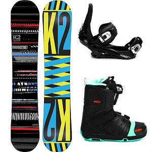 Snowboard K2 Playback Complete Snowboard Package - The K2 Playback Ski Package offers up a twin-shaped freestyle board with a soft flexing and forgiving binding as well as a comfy and cozy pair of boots. The K2 Playback Snowboard has a Flatline underneath the feet to give you plenty of pop and smooth neutral feel so you can focus easily when going across boxes or tearing up the rails. Hybritaper has been added which reduces swing weight and allowing riders an easier transition into a switch stance. 5th Element Stealth 2 Bindings are soft flexing and forgiving. The cushy ankle straps conform to your boot while remaining comfortable so you can remain concentrated on all that lay before you. The highback hugs the back of your boot for supportive and the base has a padding that provides dampening to help absorb some of the shock. The Salomon Faction FS Snowboard Boots complete this snowboard package. It offers you the Speed Powerlace System which makes getting you onto the mountain faster and makes adjustments a breeze. Memory Foam and Autofit combine to ensure your feet stay warm and comfortable in a boot customized to your foot shape. Playful and fun, you'll get your kicks on this slick K2 package properly titled: The K2 Playback Snowboard Package . Recommended Use: Freestyle, Snowboard Rocker Profile: Flat, Package Type: Board, Boots, and Bindings, Skill Range: Beginner - Advanced Intermediate, Model Year: 2013, Product ID: 305199, Gender: Mens, Skill Level: Beginner - $449.99