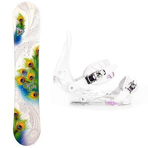 Snowboard Black Fire Special Lady Womens Snowboard and Binding Package - Looking for that first board that you can truly learn on and enjoy what the mountain has to offer? The Black Fire Special Lady Snowboard Package is the way to go. The Special Lady Snowboard has a camber profile which will help provide you with a very good edge hold so you can learn how to carve your way down the slope. This board offers a little bit of pop which makes jumps and learning how to navigate the park a little easier. You'll have the excellent Burton Citizen Bindings to hook your boots in to. They have a super lightweight single component for exceptional response in a variety of conditions. You'll have EVA Cushioning to give you greater comfort and a Gas Pedal feature which is designed to heightens toe edge response while reducing drag. If you're tired of the hassle of renting and you want a board to call your own then the Black Fire Special Lady Snowboard Package is perfect for any entry-level rider wanting to build the confidence to tackle all the trails on the mountain. . Recommended Use: All-Mountain, Snowboard Rocker Profile: Camber, Package Type: Board and Bindings, Model Year: 2013, Product ID: 305390, Gender: Womens - $199.99