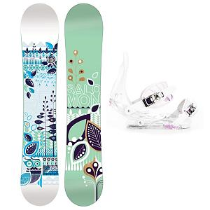 Snowboard Salomon Lotus Womens Snowboard and Binding Package - User-friendly for the fresh new snowboarder, the Salomon Lotus Snowboard Package has all you need to get acquainted with the mountain and learn all the skills. Whether you dream of carving into the black diamonds or floating on powder, the Salomon Lotus Snowboard is the one. It offers easy turning and smooth riding with an easy flex. You'll have the excellent Burton Citizen Bindings to hook your boots in to. They have a super lightweight single component for exceptional response in a variety of conditions. You'll have EVA Cushioning to give you greater comfort and a Gas Pedal feature which is designed to heightens toe edge response while reducing drag. This versatile and fun Salomon Lotus Snowboard Package is great for any gal who is all about having fun when the snow falls. . Recommended Use: All-Mountain, Snowboard Rocker Profile: Flat, Package Type: Board and Bindings, Model Year: 2012, Product ID: 305394, Gender: Womens - $249.99
