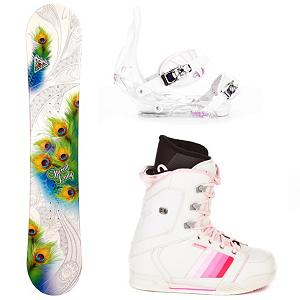 Snowboard Black Fire Special Lady Womens Complete Snowboard Package - Are you ready to walk past the rental lines and head right for the lifts? The Black Fire Special Lady Snowboard Package is the way to go. The Special Lady Snowboard has a camber profile which will help provide you with a very good edge hold so you can learn how to carve your way down the slope. This board offers a little bit of pop which makes jumps and learning how to navigate the park a little easier. You'll have the excellent Burton Citizen Bindings to hook your boots in to. They have a super lightweight single component for exceptional response in a variety of conditions. You'll have EVA Cushioning to give you greater comfort and a Gas Pedal feature which is designed to heightens toe edge response while reducing drag. This package has the CYCAB A50 Snowboard Boots to keep your feet supported and comfortable. Its synthetic leather ensures durability and traditional lacing means you'll always have the best and most comfortable fit. If you're tired of the hassle of renting and you want a board to call your own then the Black Fire Special Lady Snowboard Package is perfect for any entry-level rider wanting to build the confidence to tackle all the trails on the mountain without burning a hole in their purse. . Recommended Use: All-Mountain, Snowboard Rocker Profile: Camber, Package Type: Board, Boots, and Bindings, Model Year: 2013, Product ID: 305466, Gender: Womens - $299.99
