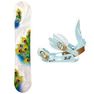 Snowboard Black Fire Special Lady Womens Snowboard and Binding Package - The Black Fire Special Lady Womens Snowboard Package is a very good entry-level snowboard so you can progress for just-a-beginner to queen of the mountain. The Special Lady Snowboard offers a camber profile which will help provide you with a very good edge hold so you can learn how to carve your way down the slope. This board offers a little bit of pop which makes jumps and learning how to navigate the park a little easier. The SNLC III is a great beginner binding for someone looking to do some all-mountain riding. This binding features aluminum heel cups and plastic anatomical base plates. The cool and cute style of the SNLC III also comes with a standard 2x4 hole base plate. Head back to the mountain when the snow falls and skip the rental line with you very own Black Fire Special Lady Womens Snowboard Package. . Recommended Use: All-Mountain Freestyle, Snowboard Rocker Profile: Camber, Package Type: Board and Bindings, Model Year: 2013, Product ID: 305995, Gender: Womens - $199.99