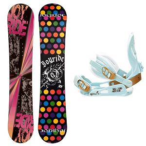 Snowboard Joyride Burst Pink Womens Snowboard and Binding Package - The JoyRide Burst Pink Snowboard Package is a great entry-level board and binding combo that will help you get the basics down and boosting your confidence so you can acquire the skills faster. Now this JoyRide Burst Pink Snowboard is super cute and fun and offers plenty of pop and a strong edge hold. Its Camber profile is more controlled than a rocker so you'll be able to increase you skills while also enjoying the day on the mountain. The SNLC III is a great beginner binding for someone looking to do some all-mountain riding. This binding features aluminum heel cups and plastic anatomical base plates. The cool and cute style of the SNLC III also comes with a standard 2x4 hole base plate. Those winter days when the snow is falling shouldn't be spent indoors. Get on a JoyRide Burst Pink Snowboard and start the winter with some shredding. . Recommended Use: All-Mountain, Snowboard Rocker Profile: Camber, Package Type: Board and Bindings, Skill Level: Beginner, Gender: Womens, Product ID: 305997, Model Year: 2013, Skill Range: Beginner - Advanced Intermediate - $179.99