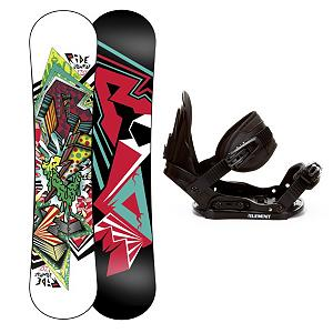 Snowboard Ride Lowride Kids Snowboard and Binding Package - The Ride Lowride Snowboard Package is great any future shredder looking to up his game and become a true mountain contender. The new Gummy Core on the Lowride Board offers super soft flex. Completely re-tooled for a refined shape, it helps maximize the learning curve and offers a surfy hook-free feel. They'll have 5th Element Stealth Bindings which offer soft flexing and forgiveness. Padding underfoot dampens vibration and eliminates shock so they can feel free to take on anything and land a little easier. Simple, smooth gliding ratchets make for easy entry and exit, while tool-less adjustments allow you to customize this binding to any boot on the fly. Your little ripper will enjoy the ability to turn and learn with ease at the very wallet-friendly, all-mountain Ride Lowride Snowboard. . Recommended Use: All-Mountain, Snowboard Rocker Profile: Rocker, Package Type: Board and Bindings, Skill Range: Intermediate - Advanced, Model Year: 2013, Product ID: 306138, Gender: Boys, Skill Level: Intermediate - $179.99