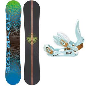 Snowboard Joyride Cheetah Blue Womens Snowboard and Binding Package - The JoyRide Cheetah Blue Snowboard Package is designed for the entry-level rider looking take hold of a board they call their own instead of the bland rental ones. This JoyRide Cheetah Blue Snowboard boasts a cool design and will give its rider plenty of pop and a strong edge hold which is perfect for helping you get down the basics.. Its Camber profile is more controlled than a rocker so you'll be able to increase you skills while also enjoying the day on the mountain. The SNLC III is a great beginner binding for someone looking to do some all-mountain riding. This binding features aluminum heel cups and plastic anatomical base plates. The cool and cute style of the SNLC III also comes with a standard 2x4 hole base plate. Those winter days when the snow is falling shouldn't be spent indoors. Graduate into the steeper and deeper terrain and get into the riding lifestyle with this fun and forgiving JoyRide Cheetah Blue Snowboard. . Recommended Use: All-Mountain, Snowboard Rocker Profile: Camber, Package Type: Board and Bindings, Skill Range: Beginner - Advanced Intermediate, Model Year: 2013, Product ID: 306152, Gender: Womens, Skill Level: Beginner - $179.99