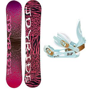 Snowboard Joyride Cheetah Pink Womens Snowboard and Binding Package - The JoyRide Cheetah Pink Snowboard Package is designed for the entry-level rider looking take hold of a board they call their own instead of the bland rental ones. This JoyRide Cheetah Pink Snowboard boasts a cool design and will give its rider plenty of pop and a strong edge hold which is perfect for helping you get down the basics.. Its Camber profile is more controlled than a rocker so you'll be able to increase you skills while also enjoying the day on the mountain. The SNLC III is a great beginner binding for someone looking to do some all-mountain riding. This binding features aluminum heel cups and plastic anatomical base plates. The cool and cute style of the SNLC III also comes with a standard 2x4 hole base plate. Those winter days when the snow is falling shouldn't be spent indoors. Graduate into the steeper and deeper terrain and get into the riding lifestyle with this fun and forgiving JoyRide Cheetah Pink Snowboard. . Snowboard Rocker Profile: Camber, Package Type: Board and Bindings, Model Year: 2013, Product ID: 306156, Gender: Womens, Skill Level: Beginner, Skill Range: Beginner - Advanced Intermediate, Recommended Use: All-Mountain - $179.99