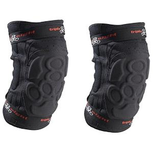 Snowboard Triple 8 Exoskin Knee Pad - Triple 8 designed the Exoskin Knee Pads with only one thing in mind, and that is to make you feel like your wearing nothing at all. These low-profile knee pads fit comfortably underneath your shred pants. High density foam padding matched with a Kevlar exterior cover for maximum impact protection and reduce wear and tear. Six padded area covers every important aspect of the knee including the sides. Neoprene body to regulate breathability with elastic straps for a true custom feel. The Triple Eight Exoskin Knee Pads protect the knees without even feeling like there their. . Model Year: 2014, Product ID: 275106, GTIN: 0604352610018 - $39.92