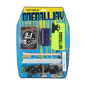 Snowboard One Ball Jay Basic Snowboard Tuning Kit 2011 - The Basic Tune Kit is perfect for the boarder who wants to properly care for their board. It comes with all the must haves for standard maintenance. For edge work an easy to use edge sharpener and ceramic stone, allowing for simple sharpening and honing. For base work F-1 all temperature wax and a Plastic Scraper to keep your board gliding fast, and a few P-tex sticks and a Metal File to repair the occasional gouge from a nail pop or the random snow snake. Put that all in a handy zippered pouch and you can take your tuning anywhere. Upgrade the Basic Tuning Kit with an iron and you will feel like a real pro. Features: Edge sharpener, File Brush. Model Year: 2012, Product ID: 128606 - $34.95