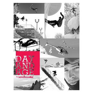 Snowboard Sandbox presents Day and Age Snowboard DVD - Follow Matt Belzile, Rupert Davies, Scot Brown, Cory Gallon, Rusty Ockenden, Dave Short, Wiley Tesseo, Layne Treeter, Steve Cartwright, Travan Salmon, Ryan Hall, Matt Butel, Dwayne Weibe, Beau Bishop and more on this thrill ride through forests, urban landscapes, and the good ole fashioned mountain where they show their tricks, their moves and style. Sure it may look impossible but they make it look easy with Sandbox's Day and Age DVD. . Model Year: 2012, Product ID: 250363 - $29.95