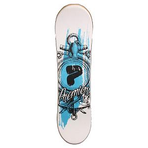 Snowboard Premier Anchor Snowskate - Winter has descended upon the world and sidewalks are snow- and ice-covered. The skateboard just isn't going to work once the cold season comes in. Why should that stop you from bustin' a wicked Ollie? With a Premier Anchor Snowskate you can ride like a skateboard in the snow on this 38 inch, side wall reinforcement sublimated P-tex base board. Printed EVA foam top sheets and Five channel jib offers you solid rail performance. Grab a few friends and prove that you don't need a blue sky summer day to show your tricks at the park. From Premier, the original and authentic snowskating company, there's nothing quite like taking the Anchor Snowskate out after a good snowfall. . Warranty: One Year, Style: Deck, Material: Wood, GTIN: 0797734723328, Model Number: ANCHOR WOOD, Product ID: 247318, Model Year: 2012, Skill Range: Intermediate - Advanced Intermediate - $49.91
