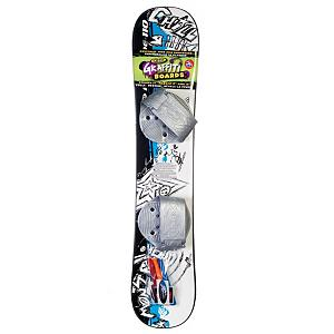 Snowboard Emsco Freeride Graffiti Plastic Snowboard - Entry level snowboards give the look of a real snowboard along with the ambition to make it to the pro level where you will be shredding with the big dogs. The Freeride Graffiti plastic snowboard by Emsco is a great board to give your youngsters who need a little push before taking on the real mountains. This Emsco board is made of solid fiberglass-composite construction with step-in adjustable strap bindings. These bindings make for easy exit and entry as well as comfortable mobility. The awesome graffiti graphics bake this freeride plastic beginner board look like something fierce! . Product ID: 205992, Model Year: 2012, Skill Range: Beginner - Intermediate - $59.95