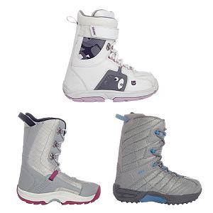 Snowboard Used Premium Lace Girls Snowboard Boots - These snowboard boots are brand name boots that have been returned from our Junior Trade-In Program. Brands include Burton, K2, Ride and other similar brands. They have typically only been used for one year. Before shipping we check each pair to make sure that they are in good usable shape and have no major flaws. Cosmetic blemishes may be present due to use. (Photo is a sample of multiple available models. Model and color varies.) . Product ID: 190857 - $29.93