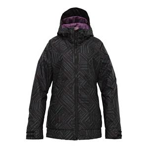 Snowboard Burton TWC Hot Tottie Womens Insulated Snowboard Jacket - Hey, there's nothing wrong with looking good on the mountain. So let the Burton TWC Hot Tottie jacket help you shred in style without sacrifying an ounce of functionality. Let's begin with Burton's DRYRIDE Durashell 2-Layer coated nylon dobby fabric. 10,000mm of waterproofing and 10,000g of breathability ensures that you protected from the elements and your perspiration. 40g of Thermacore Insulation keeps you nice and cozy without making you feel baked. The mesh-lined pit-zips give you an option for those particulary sticky underarm situations. Critically taped seams prevent moisture from slipping through the cracks. If the snow is falling and you're still in full on shred mode, just flip up the fulltime contour hood and continue your games. What's the jacket-to-pant interface for? Simple, for those knee deep pow slashing days. Just zip the Hot Tottie to your Burton pant and ride in confidence. TWC slim fit is snug here, looser there for a contoured look and feel. Are you a Hot Tottie? Features: Critically Taped Seams, Magic Stitch Removable Waist Gaiter with Jacket-to-Pant Interface. Cuff Type: Velcro, Wrist Gaiter: No, Waterproof Zippers: No, Cinch Cord Bottom: Yes, Insulator: No, Model Year: 2012, Product ID: 241119, Shipping Restriction: This item is not available for shipment outside of the United States., Breathability: High Breathability (9000g-15,000g), Waterproof: Moderately Waterproof (5000mm-19,999mm), Insulation Type: Synthetic, Length: Short, Cut: Slim, Type: Insulated, Rain Jacket: No, Race: No, Battery Heated: No, Use: Snowboard, Warranty: One Year, Hood: Yes, Powder Skirt: Yes, Goggle/Sunglasses Pocket: No, Electronics Pocket: Yes, Pockets: 4-5, Pit Zip Venting: Yes, Hood Type: Fixed, Breathability Rating: 10,000g, Waterproof Rating: 10,000mm, Taped Seams: Critically Taped, Insulation Weight: 40g, Softshell: No, Exterior Material: DRYRIDE Durashell 2-Layer Coated Nylon Dobby Fabric - $79.99