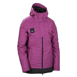 Snowboard 686 Reserved Avalon Womens Insulated Snowboard Jacket - Featuring fashion-forward styling and a tailored fit so you can move from the hill to the bars without looking back, the Avalon Insulated jacket from 686 is perfect for every girl. The 686 Women's Reserved Avalon Insulated jacket features a 10,000mm waterproof Infinidry shell and 120g of body insulation that will keep you warm and dry for a day on the mountain. Leave nothing behind as the Avalon has enough pockets to store all of your shredding essentials so there is no reason to be ill-prepared. With two inches of extra length the Avalon will keep your butt toasty warm as well and the Sherpa lined collar will keep your neck toasty warm. The Avalon Insulated jacket from 686 is a must have for women this season. Features: Bottom body panel with side button adjustments, Partially exposed center front zipper, TR8 Thermal Rating: good for 0 to 32 degrees Fahrenheit. Exterior Material: Poly blend twist yarn and Nylon oxford, Softshell: Yes, Insulation Weight: 120 Grams, Taped Seams: Critically Taped, Waterproof Rating: 10,000mm, Breathability Rating: 8,000g, Hood Type: Fixed, Pit Zip Venting: Yes, Pockets: 4-5, Electronics Pocket: Yes, Goggle Pocket: No, Powder Skirt: Yes, Hood: Yes, Warranty: One Year, Use: Snowboard, Battery Heated: No, Race: No, Rain Jacket: No, Type: Insulated, Cut: Regular, Length: Long, Tall: No, Insulation Type: Synthetic, Waterproof: Moderately Waterproof (5000mm-19,999mm), Breathability: Moderate Breathability (4000g-8999g), Cuff Type: Elastic, Wrist Gaiter: Yes, Waterproof Zippers: No, Cinch Cord Bottom: No, Insulator: No, Model Year: 2012, Product ID: 243140 - $99.93