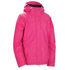 Snowboard 686 Mannual Angel Womens Insulated Snowboard Jacket - The 686 Mannual Angel Snowboard Jacket is cute and will keep you warm and comfortable when you're tearing it up in the park. With 100g of body insulation you'll stay warm even when temperatures are at -5. With InfiDRy, you'll be protected against the winter weather that can plague the slopes. Wet snow, rain and ice are no match for InfiDRY which also utilizes its technology to wick moisture out of the jacket so you can remain warm and dry. If the weather starts heating up and you're getting a little sweaty you can always cool down by zipping open the underarm vents. Covered Snaps ensure that the closure system doesn't get in the way of your next trick. In spite of the weather, you want to ride on the mountain, so put on the 686 Angel Snowboard Jacket and don't let a thing like frigid temperatures and blowing snow stop you. . Pit Zip Venting: Yes, Powder Skirt: Yes, Warranty: One Year, Cuff Type: Velcro, Wrist Gaiter: No, Waterproof Zippers: No, Cinch Cord Bottom: No, Model Year: 2012, Product ID: 266168, Insulator: No, Breathability: Moderate Breathability (4000g-8999g), Waterproof: Moderately Waterproof (5000mm-19,999mm), Insulation Type: Synthetic, Length: Medium, Cut: Regular, Type: Insulated, Rain Jacket: No, Race: No, Battery Heated: No, Use: Snowboard, Hood: Yes, Goggle/Sunglasses Pocket: No, Electronics Pocket: No, Pockets: 1-3, Hood Type: Fixed, Breathability Rating: 5,000g, Waterproof Rating: 8,000mm, Taped Seams: Critically Taped, Insulation Weight: 100 Grams, Softshell: No, Exterior Material: 100% Poly Cross Dobby Texture - $89.95