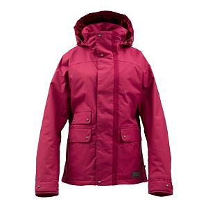 Snowboard Burton Delirium Womens Insulated Snowboard Jacket - The Burton Delirium Jacket is all about the details. DRYRIDE Durashell 2-Layer Heathered Plain Weave Fabric keeps the water out while pulling heat-robbing moisture away from your skin and propelling them out. The Delirium is strategically mapped with 3M Thinsulate Platinum Insulation. 100g in the body keeps your core warm while the 60g in the sleeves is warm without being too hot. If you've been getting rad all day, open up the Mesh-Lined Pit Zips and let the cool breeze in. Fully Taped Seams means the water is completely sealed out. Plush Collar keeps you comfortable so you don't get the dreaded chafe. When it gets dumpy outside, flip up the Fulltime Contour Hood and stay shielded. Here's something gnarly about the Delirium jacket... it has Removable Lycra Hand Panties. Use the Removable Waist Gaiter with Jacket-to-Pant Interface when things get waist deep outside. All this tech making you delirious? Well, now you know why they call it the Burton Delirium Jacket. . Exterior Material: DRYRIDE Duracell 2-Layer Heathered Plain Weave Fabric, Insulation Weight: 100 Grams Body, 60G Sleeves, Taped Seams: Fully Taped, Waterproof Rating: 10,000mm, Breathability Rating: 10,000g, Hood Type: Fixed, Pit Zip Venting: Yes, Pockets: 1-3, Electronics Pocket: No, Goggle/Sunglasses Pocket: No, Powder Skirt: Yes, Bearing Grade: Performance, Hood: Yes, Warranty: One Year, Use: Snowboard, Battery Heated: No, Race: No, Type: Insulated, Cut: Regular, Length: Medium, Insulation Type: Synthetic, Waterproof: Moderately Waterproof (5000mm-19,999mm), Breathability: High Breathability (9000g-15,000g), Cuff Type: Velcro, Wrist Gaiter: No, Waterproof Zippers: No, Cinch Cord Bottom: Yes, Insulator: No, Model Year: 2013, Product ID: 289003, Shipping Restriction: This item is not available for shipment outside of the United States., Model Number: 276439-608S, GTIN: 0886057888323 - $119.91