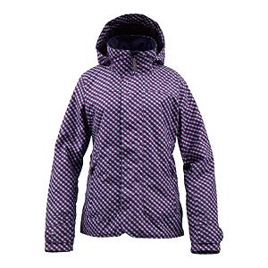 Snowboard Burton Jet Set Womens Insulated Snowboard Jacket - The Burton Jet Set Jacket brings you luxurious treatment in jacket form. The Jet Set features DRYRIDE Durashell 2-Layer Woven Dobby Fabric that keeps you dry by locking water out and letting the sweat escape. The Jet Set is mapped with 40G of 3M Thinsulate Insulation to keep you warm while you shred. If things get too warm, open up the pit zips and let the cool air in. Critically Taped Seams lock out the moisture preventing them from slipping through the cracks. Flip the Contour Hood up when Ullr makes it snow and stay protected. When it's a pow day, use the Removable Waist Gaiter with Jacket-to-Pant interface and get surfy. Get the royal treatment with the Burton Jet Set Jacket. . Exterior Material: DRYRIDE Duracell 2-Layer Woven Dobby Fabric, Insulation Weight: 40 Grams, Taped Seams: Critically Taped, Waterproof Rating: 10,000mm, Breathability Rating: 5,000g, Hood Type: Fixed, Pit Zip Venting: Yes, Pockets: 1-3, Electronics Pocket: No, Goggle/Sunglasses Pocket: No, Powder Skirt: Yes, Hood: Yes, Warranty: One Year, Use: Snowboard, Battery Heated: No, Race: No, Type: Insulated, Cut: Slim, Length: Medium, Insulation Type: Synthetic, Waterproof: Moderately Waterproof (5000mm-19,999mm), Breathability: Moderate Breathability (4000g-8999g), Cuff Type: Velcro, Wrist Gaiter: No, Waterproof Zippers: No, Cinch Cord Bottom: Yes, Insulator: No, Model Year: 2013, Product ID: 289012, Shipping Restriction: This item is not available for shipment outside of the United States. - $101.93