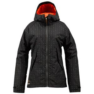 Snowboard Burton Logan Womens Insulated Snowboard Jacket - The Burton Logan Insulated Snowboard Jacket is built tough and durable so whether you're carving into trails or popping ollies in the park, you'll stay protected from the elements. The DRYRIDE 2L Durashell exterior offers excellent weatherproofing and breathability. With its Sig Fit you'll have plenty of room to layer up on those frigid winter days without having the jacket feel overly baggy. With some extra sleeve space going over the gloves you can keep the snow out as well. To help trap the warmth inside, you'll have 3M Thinsulate Insulation which is breathable, not bulky and won't limit your mobility. Now if you're heating up and need to release some of the humidity from inside, you can open up the pit zips and let some fresh air flow through. With these features and a cool style and design, it's no wonder the Burton Logan Insulated Snowboard Jacket is one of Burton's best-sellers . Exterior Material: DRYRIDE Duracell 2-Layer Plain Weave Fabric, Insulation Weight: 60 Grams, Taped Seams: Critically Taped, Waterproof Rating: 10,000mm, Breathability Rating: 10,000g, Hood Type: Fixed, Pit Zip Venting: Yes, Pockets: 1-3, Electronics Pocket: No, Goggle/Sunglasses Pocket: No, Powder Skirt: Yes, Hood: Yes, Warranty: One Year, Use: Snowboard, Battery Heated: No, Race: No, Type: Insulated, Cut: Regular, Length: Medium, Insulation Type: Synthetic, Waterproof: Moderately Waterproof (5000mm-19,999mm), Breathability: High Breathability (9000g-15,000g), Cuff Type: Velcro, Wrist Gaiter: No, Waterproof Zippers: No, Cinch Cord Bottom: No, Insulator: No, GTIN: 0886057852744, Model Number: 276444-035S, Shipping Restriction: This item is not available for shipment outside of the United States., Product ID: 289029, Model Year: 2013 - $99.92