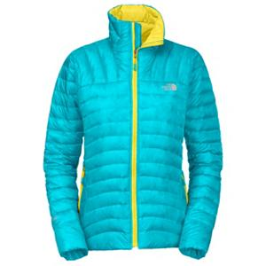 Snowboard The North Face Thunder Micro Womens Jacket - Why bring a mid-layer on your outdoor adventure when you can bring the North Face Thunder Micro Jacket. This jacket is filled with 800 fill Eastern European down that will keep you toasty warm without added bulk so you stay comfortable as well. The Thunder Micro Jacket also features FlashDry technology to enhance comfort and also allows the jacket to dry quicker and improve breathability. The North Face Thunder Micro Jacket also packs well as it easily stuffs into its own handwarmer pocket. . Exterior Material: Nylon Ripstop with FlashDry Fiber, Insulation Weight: 800 Fill Eastern European Down, Taped Seams: None, Waterproof Rating: N/A, Breathability Rating: N/A, Hood Type: None, Pit Zip Venting: No, Electronics Pocket: No, Goggle/Sunglasses Pocket: No, Powder Skirt: No, Fleece Weight: Mid, Category: Mid-Weight, Hood: No, Warranty: Lifetime, Use: Ski, Battery Heated: No, Race: No, Rain Jacket: No, Type: Insulated, Cut: Regular, Length: Medium, Insulation Type: Down, Waterproof: Not Specified, Breathability: Not Specified, Cuff Type: None, Wrist Gaiter: No, Waterproof Zippers: No, Closure Type: Full Zip Top, Wind Protection: No, Cinch Cord Bottom: No, Pockets: 3-4, Wicking Properties: No, Sleeve Type: Long Sleeve, Water Resistant: No, Insulator: Yes, Model Year: 2013, Product ID: 268325, Shipping Restriction: This item is not available for shipment outside of the United States. - $179.95