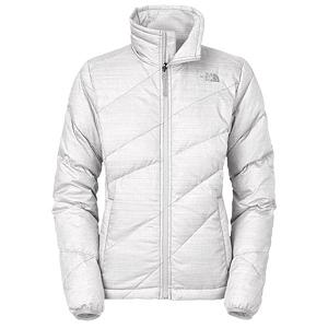Snowboard The North Face Bella Luna Down Womens Jacket - Stay warm this winter with the luxurious The North Face Bella Luna Down Jacket. This jacket features 600 fill goose down insulation that will keep you toasty warm this winter and features a tall collar with a brushed chin guard that will cover your lower face for added protection from the elements all while keeping you comfortable. There are two zip hand pockets that are perfect for keeping your hands warm and also storing any small items that you may need. . Exterior Material: Polyester, Insulation Weight: 600 Fill Goose Down, Taped Seams: None, Waterproof Rating: N/A, Breathability Rating: N/A, Hood Type: None, Pit Zip Venting: No, Pockets: 1-3, Electronics Pocket: No, Goggle/Sunglasses Pocket: No, Powder Skirt: No, Fleece Weight: Mid, Category: Mid-Weight, Hood: No, Warranty: Lifetime, Use: Ski, Battery Heated: No, Race: No, Type: Insulated, Cut: Regular, Length: Medium, Insulation Type: Down, Waterproof: Not Specified, Breathability: Not Specified, Cuff Type: Elastic, Wrist Gaiter: No, Waterproof Zippers: No, Closure Type: Full Zip Top, Wind Protection: No, Cinch Cord Bottom: Yes, Pockets: 1-2, Wicking Properties: No, Sleeve Type: Long Sleeve, Water Resistant: No, Insulator: Yes, Model Year: 2013, Product ID: 269796, Shipping Restriction: This item is not available for shipment outside of the United States. - $129.95