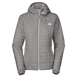 Snowboard The North Face Blaze Hooded Womens Jacket - For a light and warm jacket pick up The North Face Blaze Hooded Jacket. This lightweight jacket is a full zip and will pack down small and can stow in its hand pocket that makes it easy to pack during travel. The Blaze Hooded gives you a feminine and sweater like fit that will have you looking good. Lightweight insulation will keep you warm and two zip hand pockets will keep your hands warm or allow you to store small accessories that you may need while rocking The North Face Blaze Hooded Jacket. . Exterior Material: Recycled Polyester, Insulation Weight: 60g, Taped Seams: None, Waterproof Rating: N/A, Breathability Rating: N/A, Hood Type: Fixed, Pit Zip Venting: No, Pockets: 1-3, Electronics Pocket: No, Goggle/Sunglasses Pocket: No, Powder Skirt: No, Fleece Weight: Light, Category: Light-Weight, Hood: Yes, Warranty: Lifetime, Use: Ski, Battery Heated: No, Race: No, Type: Shell, Cut: Regular, Length: Medium, Insulation Type: Synthetic, Waterproof: Not Specified, Breathability: Not Specified, Cuff Type: Elastic, Wrist Gaiter: No, Waterproof Zippers: No, Closure Type: Full Zip Top, Wind Protection: No, Cinch Cord Bottom: Yes, Pockets: 1-2, Wicking Properties: No, Sleeve Type: Long Sleeve, Water Resistant: No, Insulator: Yes, Model Year: 2013, Product ID: 269992, Shipping Restriction: This item is not available for shipment outside of the United States. - $129.95