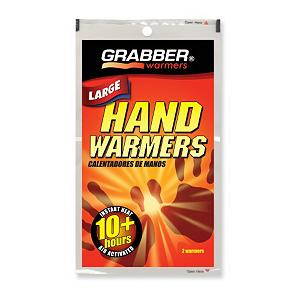 Snowboard Grabber Handwarmer - Portable heat in the palm of your hands! Air-activated Grabber Hand Warmers keep hands and fingers toasty for over 7 hours. All you have to do is open the package and put the Hand Warmers in your glove or pocket for a few minutes to start the process. Hand Warmers are standard equipment for skiers, snowboarders, hunters, campers, hikers, birdwatchers or anyone who enjoys outdoor activities when the temperatures start to dip. Forget those chilly fingers that make you want to go inside and warm up, go for the Grabber Hand Warmers and feel the soothing warmth minutes after you open the pack. . Product ID: 292208 - $1.95