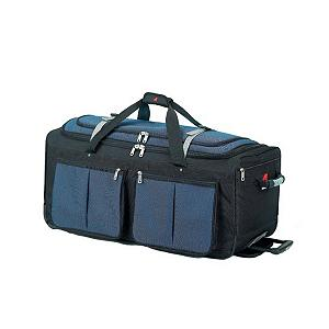 Snowboard It's wicked strong and has so many pockets that you may not even need the main section. It's Athalon's 15 Pocket Wheeling Duffel and it's constructed of tough and durable high-density polyester uppers and 'can't be torn' ballistic nylon bottoms. This duffel bag boasts 15 pockets including four on the outside, a top-lid pocket for those super necessary last-minute items, mesh pockets, zippered-interior pockets and shoe pockets. Snap-Up Gates with mesh pockets hold the contents inside the main section in place. There's even a detachable see-through PVC Toiletry Pouch which comes in handy when getting through the airport security line. Transporting this lightweight duffel bag is a cinch too. Large, Ball-Bearing Sealed In-Line Skate Wheels and a Telescopic Pull-Out Handle with ergonomic rubber grip makes rolling a piece of cake. Protective Runners with a reinforced bottom ensures less wear and tear while traveling. With this much room and this many pockets you'll store everything you need for a trip in an organizational way with Athalon 15 Pocket Wheeling Duffel.  Size: 29'' x 14'' x 13.5'',  High-Density Polyester Uppers,  'Can't Be Torn' Ballistic Nylon Bottoms,  Four Roomy Outside Pockets,  Top Lid Pocket,  Mesh Pockets Inside the Top Lid Pocket,  Zippered Interior Pockets,  Shoe Pockets holds 2 Pair of Shoes,  Snap-Up Gate with Mesh Pockets,  Super Strong Honeycomb Frame,  Detachable See-Through PVC Toiletry Pouch,  Luggage Style: Wheeled Duffel, Christmas Delivery: This is a Special Order item and is not guaranteed for Christmas delivery., Shipping Exclusion: This item is only available for shipment by UPS to the lower 48 United States. APO, FPO, PO BOX, Hawaii, and Alaska shipments may not be possible for this item. (Please call prior to purchase.), Special Order: This is a Special Order item, will be shipped from the manufacturer, and is not stocked in our warehouse. This item does not qualify for our Price Matching Policy. Order processing time may vary., GTIN: 0609529052943, Model Number: 529Blue, Product ID: 216985, Model Year: 2013, Size Dimensions: 29in x 14in x 13.5in, Airplane Carry-On: No - $139.99