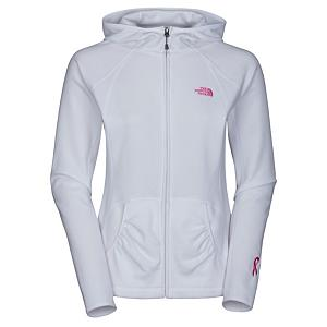 Snowboard The North Face Pink Ribbon TKA 100 Masonic Womens Hoodie - The North Face has partnered with the non-profit Boarding For Breast Cancer education awareness foundation to bring you the cozy, and lightweight full zip fleece the TKA 100 Masonic Hoodie. This lightweight hoodie is made with Polartec 100 Micro Fleece that is super soft and will give you more warmth and breathability without the added bulk that can get uncomfortable. The TKA 100 Masonic will dry quickly to minimize heat loss and keep you dry and comfortable. A media pocket will allow you to jam to your favorite tunes when sporting The North Face Pink Ribbon TKA 100 Masonic Hoodie. Features: The North Face Supports Boarding For Breast Cancer. Warranty: Lifetime, Type: Full Zip Top, Wind Protection: No, Pockets: 3-4, Wicking Properties: No, Type: Long Sleeve, Water Resistant: Yes, Model Year: 2013, Product ID: 271824, Shipping Restriction: This item is not available for shipment outside of the United States., Material: Fleece, Type: Hoodies, Battery Heated: No, Hood: Yes, Category: Light-Weight, Fleece Weight: Light, Material: Polartec Classic 100 Micro, Hood Type: Fixed - $70.00
