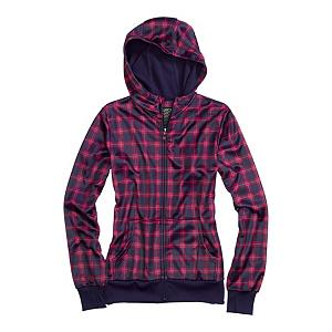 Snowboard Burton Scoop Womens Hoodie - From Mountain to Street, the Burton Scoop Hoodie is not your friends piece of cotton mess. While your homies are getting soaked, you'll stay dry and warm. The Burton Scoop Hoodie features the quick-drying, highly breathable DRYRIDE Thermex bonded fleece fabric. DRYRIDE Thermex pulls heat-robbing moisture away from your skin and catapults it out through the layers. Flip the Fulltime hood up when Ullr does what he does best and continue on with your shenanigans. Kangaroo handwarmer pockets provide a way to keep your hands extra warm when needed. Sound Pocket with Headphone Cable Port let's you drop your favorite mp3 player in and rock out. And who doesn't love Ribbed Thumbhole Cuffs? Use the Burton Scoop Hoodie as a layer, streetwear, or use it for some spring slush laps. Whatever you choose, it will still be better than what your friends are wearing. . Hood Type: Fixed, Material: DRYRIDE Thermex Bonded Fleece, Bearing Grade: Performance, Hood: Yes, Warranty: One Year, Battery Heated: No, Closure Type: Full Zip Top, Wind Protection: Yes, Type: Hoodies, Material: Fleece, Pockets: 1-2, Wicking Properties: Yes, Sleeve Type: Long Sleeve, Water Resistant: Yes, Model Year: 2013, Product ID: 288784, Shipping Restriction: This item is not available for shipment outside of the United States., Model Number: 275708-937XS, GTIN: 0886057804095 - $39.92