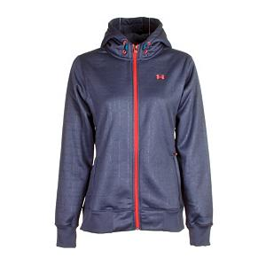 Snowboard Under Armour Robyn Womens Hoodie - Stay warm and dry with the Under Armour Robyn Hoodie. This hoodie features a brushed polyester material that will trap heat in to keep you warm and toasty and its also quick drying so if you get caught in a rainstorm you will not be a soaked rat. This quick drying fabric will transport moisture away to keep you nice and dry. Two secure hand pockets will keep your hands warm or allow you to store minor accessories that you may need. The embossed pattern on the Under Armour Robyn Hoodie gives it a stylish look. . Warranty: Lifetime, Battery Heated: No, Sleeve Type: Long Sleeve, Model Year: 2013, Product ID: 290162, Model Number: 1231611 499 SM, GTIN: 0886450507432, Water Resistant: Yes, Wicking Properties: Yes, Pockets: 1-2, Material: Synthetic, Type: Hoodies, Wind Protection: No, Closure Type: Full Zip Top, Hood: Yes, Material: Brushed Polyester, Hood Type: Fixed - $39.92