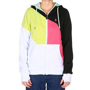 Snowboard Volcom Nepeta Fleece Full Zip Womens Hoodie - Your friends just tagged you in a bunch of photos, and you just realized you're wearing that same tattered old fleece in all of them. This winter, let the Volcom Womens Nepeta Fleece Jacket permeate your shredding wardrobe. Its soft, smooth butter-fur lining makes you feel as if you were born into royalty, while the Nepeta printed hood lining shows your wild side. Thanks to the Nepeta Hydrophobic coating, you can wear this sweet fleece hoodie out on mountain and on sunny spring days. It even has an internal pouch just for your cell phone so you can let everyone know your status while you ride the lift. Whistle zipper adds some style to the fleece, so your friends well always know were to find you. . Hood Type: Fixed, Material: Hydrophobic Fleece, Fleece Weight: Mid, Category: Mid-Weight, Hood: Yes, Warranty: One Year, Battery Heated: No, Closure Type: Full Zip Top, Wind Protection: No, Type: Hoodies, Material: Bonded Fleece, Pockets: 1-2, Wicking Properties: No, Sleeve Type: Long Sleeve, Water Resistant: Yes, Model Year: 2013, Product ID: 290695, Model Number: H5351201 WHT XS, GTIN: 0885622995299 - $39.92