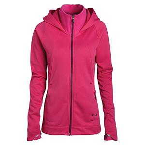Snowboard Oakley Malleable Fleece Womens Hoodie - The Oakley Malleable DWR Fleece Hoodie might look like other hoodies but, The Malleable Fleece features a high neck collar making it perfect with the best coverage on your neck and your chin. When you're riding down the slopes and that cold wind is coming against your face you want complete protection, put on your Malleable Fleece Hoodie to give you that soft cozy coverage. As the seasons change in temperature your Malleable Fleece goes with the flow of change, wearing the fleece alone and providing you with an intense layer under your favorite Oakley Jacket when the brisk cold weather sets in. . Hood Type: Fixed, Material: Polyester, Fleece Weight: Mid, Category: Mid-Weight, Hood: Yes, Warranty: One Year, Battery Heated: No, Closure Type: Full Zip Top, Wind Protection: No, Type: Hoodies, Material: Fleece, Pockets: 1-2, Wicking Properties: Yes, Sleeve Type: Long Sleeve, Water Resistant: No, Model Year: 2013, Product ID: 292091, Model Number: 561204 40Y S - $59.99