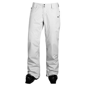 Snowboard Oakley Fit Womens Ski Pants - The Oakley Fit Pants brings on the ultimate in technical and fit, for snowboard pants. The fit, style and shape of The Fit Pants is amazing to what it offers in comfort and silhouette. Oakley is all about performance - The Fit Pant allows for extreme movement, flexibility, protection and all packed into a sweet style that is eye catching. The thigh ventilation zipper opens to let the temps flow, keeping you at a comfort level that allows you to experience unexpected weather conditions. The Fit Pants look so good and are so easy to wear, on the slopes you're good to go and kick back when lounging around a fire at the lodge. Features: Hem gusset. Exterior Material: Polyester, Softshell: No, Insulation Weight: N/A, Taped Seams: Critically Taped, Waterproof Rating: 10,000mm, Breathability Rating: 10,000g, Full Zip Sides: No, Thigh Zip Venting: Yes, Suspenders: None, Articulated Knee: Yes, Low Rise: No, Warranty: One Year, Race: No, Waterproof: Moderately Waterproof (5000mm-19,999mm), Breathability: High Breathability (9000g-15,000g), Use: Snowboard, Type: Shell, Cut: Regular, Lining Material: Polyester, Waist: Beltloops, Pockets: 3-4, Model Year: 2013, Product ID: 292077 - $89.95