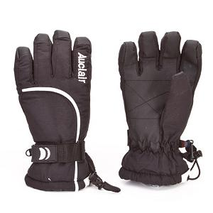 Snowboard Auclair Curves Womens Gloves - Designed to keep your fingers and hands toasty warm this winter the Auclair Curves Gloves are lightweight and insulated for protection from the elements. Reinforced fingertips allow you to get a good grip on whatever you are trying to grasp and the 40 grams of Thinsulate insulation will keep your hands and finger toasty warm. An elasticized wrist with a touch-fasten adjustable strap allow you to get a secure and comfortable fit when you are wearing the Auclair Curves gloves. Features: Elasticized Wrist with Touch-Fasten Adjustable Strap. Removable Liner: No, Material: Nylon, Warranty: Other, Battery Heated: No, Race: No, Type: Glove, Use: Ski/Snowboard, Wristguards: No, Outer Material: Nylon, Waterproof: Yes, Breathable: Yes, Pipe Glove: No, Cuff Style: Under the cuff, Down Filled: No, Touch Screen Capable: No, Model Year: 2012, Product ID: 285391 - $29.95