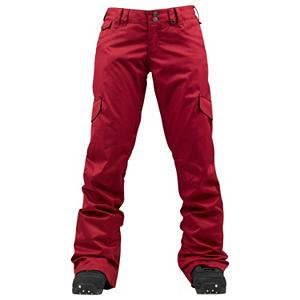 Snowboard Burton TWC Boomstick Womens Snowboard Pants - The slim fitting stylish Burton TWC Boomstick Snowboard Pants are as comfy as they are cozy and they'll keep you warm and dry even when the cold temps and snow whips around the mountain. The durable DRYRIDE Durashell 2-layer fabric features technical weatherproofing and breathable properties in a buttery soft yet bomber package. Taffeta Lining is great because it wicks and breathes easy to keep you dry from the inside out. With thigh vents, you can keep cool even when you're sweating at your highest performance level. Leg Lifts are designed to keep the cuffs of your pants clean so you rock again for many years to come. The TWC Boomstick pant is going to get you warm and dry all season with fully taped seams. Prepare for the Boom or get left in the dust. . Exterior Material: DRYRIDE Duracell 2L Needle Drop Fabric, Softshell: No, Insulation Weight: N/A, Taped Seams: Fully Taped, Waterproof Rating: 10,000mm, Breathability Rating: 5,000g, Full Zip Sides: No, Thigh Zip Venting: Yes, Suspenders: None, Articulated Knee: No, Low Rise: Yes, Warranty: One Year, Race: No, Waterproof: Moderately Waterproof (5000mm-19,999mm), Breathability: Moderate Breathability (4000g-8999g), Use: Snowboard, Type: Shell, Cut: Slim, Lining Material: Taffeta Lining, Waist: Beltloops, Pockets: 3-4, Model Year: 2013, Product ID: 289171, Shipping Restriction: This item is not available for shipment outside of the United States., Model Number: 276508-628XS, GTIN: 0802331088050 - $89.91