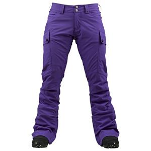 Snowboard Burton Gloria Womens Snowboard Pants - Have you ever wanted to ride in your favorite pair of low-rider jeans. Will now you can with the Burton Gloria Snowboard Pants. The Gloria pant is a slimmed up tailored fit much like your favorite jeans but with some added tech to get you through the winter. Outer fabric is covered in a new DRYRIDE Nanoshell fabric which allows for water to bead and roll off for long-lasting performance that will never break down over time, or alter the look and feel like typical water-repellent coatings. The stretch fabric offers an incredible 15,000 waterproofing and 10,000g breathability rating. The inside of the pant is mapped with a stretch Taffeta Lining, it wicks and breathes easy to keep you dry from the inside out. The Gloria pant by Burton is going to make protect you while looking your best, no one will get mad if you start wearing these everyday. . Full Zip Sides: No, Low Rise: Yes, Warranty: One Year, Model Year: 2013, Product ID: 289181, Shipping Restriction: This item is not available for shipment outside of the United States., Pockets: 3-4, Lining Material: Stretch Taffeta Lining, Cut: Slim, Type: Shell, Use: Snowboard, Breathability: High Breathability (9000g-15,000g), Waterproof: Moderately Waterproof (5000mm-19,999mm), Race: No, Articulated Knee: No, Suspenders: None, Thigh Zip Venting: Yes, Breathability Rating: 10,000g, Waterproof Rating: 15,000mm, Taped Seams: Critically Taped, Insulation Weight: N/A, Softshell: No, Exterior Material: DRYRIDE Nanoshell 2L Fabric, Waist: Adjustable - $89.91
