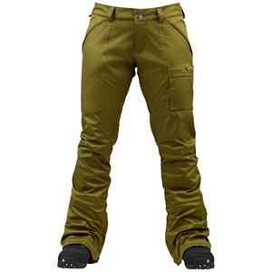 Snowboard Burton Indulgence Womens Snowboard Pants - The slim fitting stylish Burton Indulgence Snowboard Pants are as comfy as they are cozy and they'll keep you warm and dry even when the cold temps and snow whips around the mountain. This slim and sassy pant comes with thigh vents, so you can keep cool when you're sweating at your highest performance level. Of course not every adventure is going to be a blue sky beauty of a day which is why Burton designed the Indulgence Pants with Dry Ride 2L. You'll have a micro-porous coating applied directly to the backside of the DWR-Finished outer fabric providing waterproof/breathable performance. Pick the color that suits your style and mesmerize your fellow shredders with the Indulgence Pant and let the fun unfold. . Exterior Material: Dry ride Duracell, Softshell: No, Insulation Weight: N/A, Taped Seams: Fully Taped, Waterproof Rating: 10,000mm, Breathability Rating: 5,000g, Full Zip Sides: No, Thigh Zip Venting: Yes, Suspenders: None, Articulated Knee: No, Low Rise: Yes, Warranty: One Year, Race: No, Waterproof: Mild Waterproofing (5,001 - 10,000mm), Breathability: Low Breathability (< 5,000g), Use: Snowboard, Type: Shell, Pant Fit: Slim, Lining Material: Stretch Taffeta Lining, Waist: Adjustable, Pockets: 3-4, Model Year: 2013, Product ID: 289195, Shipping Restriction: This item is not available for shipment outside of the United States., Model Number: 276515-338S, GTIN: 0886057869841 - $69.89